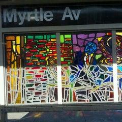 Photo taken at MTA Subway - Myrtle Ave/Broadway (J/M/Z) by Liz S. on 3/7/2012