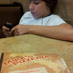Photo taken at Mike's Pizzeria Italian Restaurant by Lisa S. on 9/10/2012