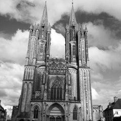 Photo taken at Cathédrale Notre-Dame de Coutances by Jeffrey G. on 7/10/2012