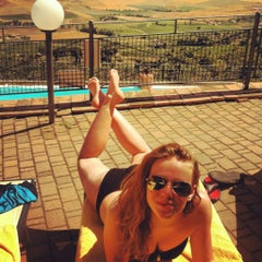 Photo taken at Dei Capitani Hotel Montalcino by Zosia D. on 8/10/2012
