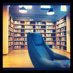 Photo taken at Freedom Institute Public Library by rahmania h. on 9/5/2012