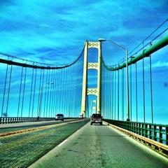 Photo taken at Mackinac Bridge by Michael B. on 4/13/2012