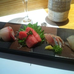 Photo taken at Sushi Azabu by Annie J. on 8/12/2012