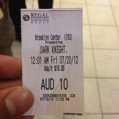 Photo taken at Regal Cinemas Brooklyn Center 20 by Matt W. on 7/20/2012