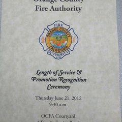 Photo taken at Orange County Fire Authority, HQ by William B. on 6/21/2012
