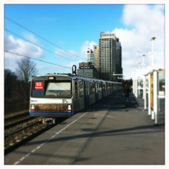 Photo taken at Metrostation Spaklerweg by Roel N. on 2/19/2012
