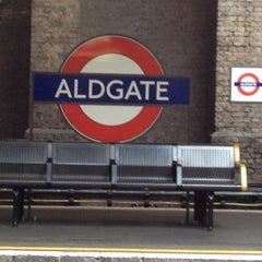 Photo taken at Aldgate London Underground Station by Keith F. on 6/23/2012