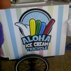 Photo taken at Aloha Pops Ice Cream Tricycle by Ed O. on 2/8/2012