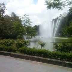 Photo taken at Parque de Los Lagos by Javier N. on 8/1/2012