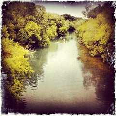 Photo taken at Barton Springs Pedestrian Bridge by Tennille R. on 8/20/2012