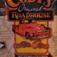 Photo taken at Cody's Original Roadhouse by Columbus W. on 4/8/2012