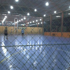 Photo taken at Zona Futsal Pulau Situ Gintung by tie c. on 7/4/2012