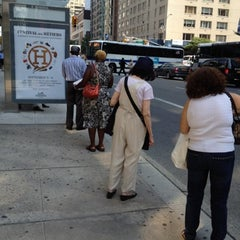 Photo taken at MTA Bus - 7 Av & W 57 St (M/31M57/X12/X14/X30/X42) by Chuck A. on 8/9/2012