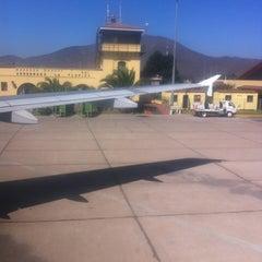 Photo taken at Aeropuerto La Florida (LSC - SCSE) by Christian Vaquero R. on 2/29/2012