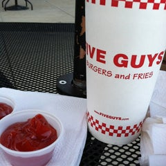 Photo taken at Five Guys by Torrie S. on 4/8/2012