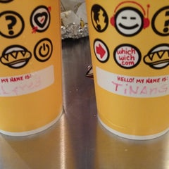 Photo taken at Which Wich? Superior Sandwiches by Christine B. on 5/9/2012