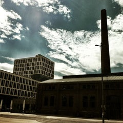 Photo taken at Rainer-Werner-Fassbinder-Platz by Raimund V. on 8/9/2012