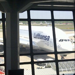Photo taken at Lufthansa Business Lounge A (Schengen) by Michael B. on 5/22/2012