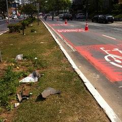 Photo taken at Ciclo-Faixa Paulo Faccini/Salgado Filho by Thiago R. on 8/26/2012