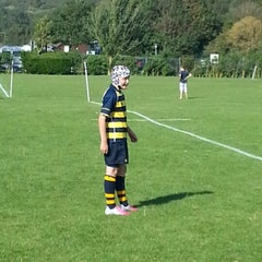 Photo taken at Brighton College Rugby Ground by Simon H. on 9/8/2012