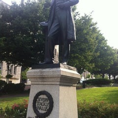 Photo taken at Severn Teackle Wallis Statue by Steven M. on 6/24/2012