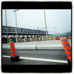 Photo taken at U.S./Canada border - Champlain-St. Bernard de Lacolle Crossing by Amanda A. on 6/30/2012