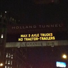 Photo taken at Holland Tunnel by Cynthia W. on 7/14/2012