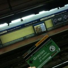 Photo taken at Estación Diagonal Norte [Línea C] by Daniel Q. on 4/22/2012