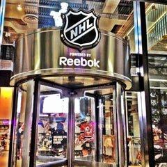 Photo taken at NHL Store Powered by Reebok by Irell P. on 5/6/2012