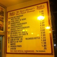 Photo taken at Jim's Original Hot Dog by Shirley RN on 7/22/2012