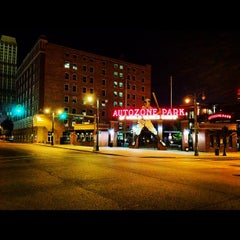 Photo taken at AutoZone Park by Anthony C. on 9/1/2012