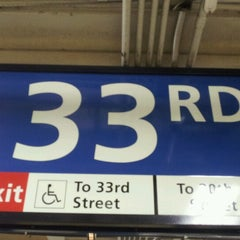 Photo taken at 33rd St PATH Station by Mauro G. on 8/14/2012