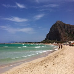 Photo taken at Spiaggia San Vito Lo Capo by Davide F. on 6/18/2012