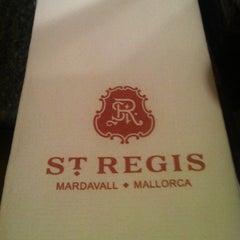 Photo taken at The St. Regis Mardavall Mallorca Resort by AMALIA on 8/8/2012
