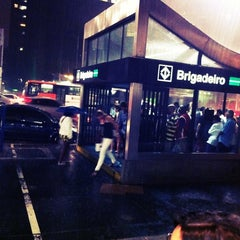 Photo taken at Estação Brigadeiro (Metrô) by Clovis R. on 3/2/2012