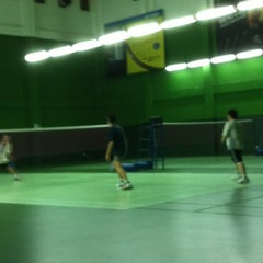 Photo taken at BJGCR Badminton Court by Kim Seng C. on 2/21/2012