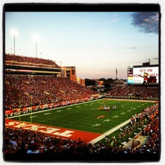 Photo taken at Darrell K. Royal-Texas Memorial Stadium by Pauly M. on 9/9/2012