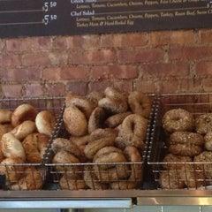 Photo taken at Olde Brooklyn Bagel Shoppe by Ben S. on 9/1/2012