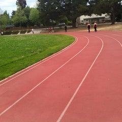 Photo taken at Campbell Community Center Track by gessika.👽 on 4/25/2012