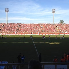 Photo taken at Estádio Arena Joinville by lucas s. on 8/4/2012