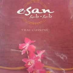 Photo taken at Thai E-San by Jorge L. on 9/8/2012
