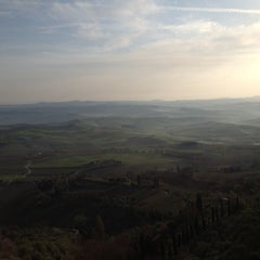 Photo taken at Dei Capitani Hotel Montalcino by La S. on 3/21/2012