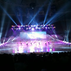 Photo taken at 올림픽체조경기장 (Olympic Gymnastics Arena) by Dongsung H. on 8/25/2012