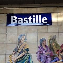 Photo taken at Métro Bastille [1,5,8] by Serge L. on 6/9/2012