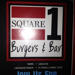 Photo taken at Square 1 Burgers & Bar by Lisa N. on 2/11/2012