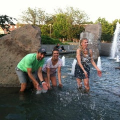 Photo taken at Broyhill Fountain by Andrew M. on 5/6/2012