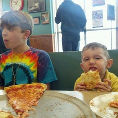 Photo taken at Sam's Pizza Palace by Brittany T. on 3/24/2012