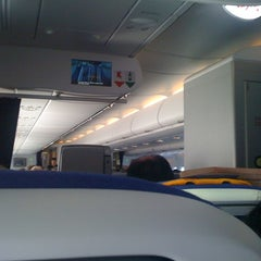 Photo taken at Lufthansa Flight LH 463 by Carole G. on 2/12/2012