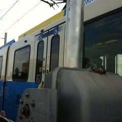 Photo taken at South Campus LRT Station by Monique M. on 7/18/2012