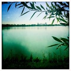 Photo taken at Sloan's Lake Park by Sara P. on 7/30/2012